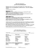 Petoskey Athletics Activity Fee
